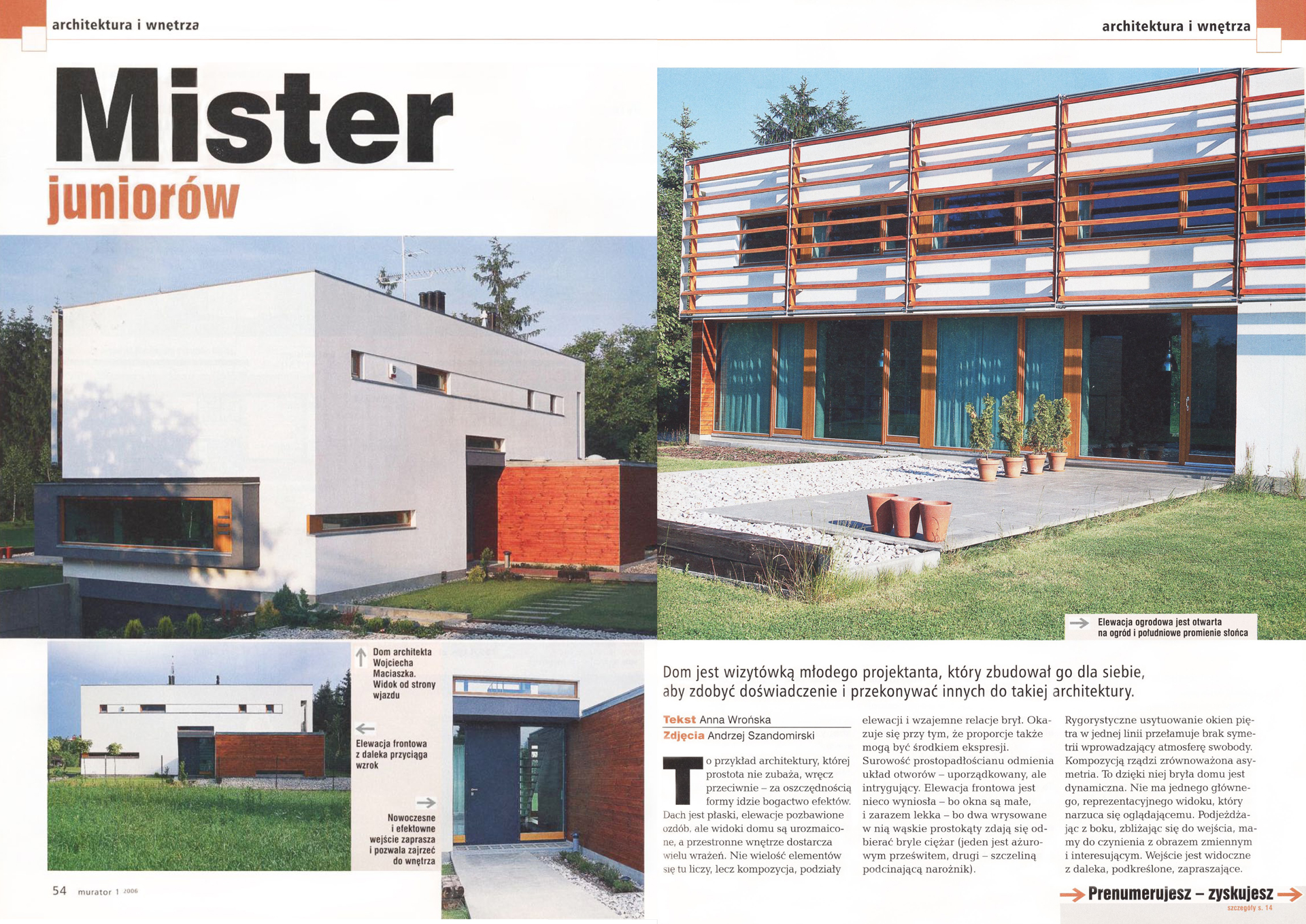 artykuł w magazynie Murator